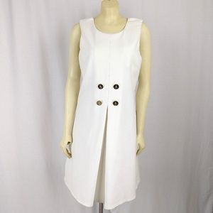 Julie Brown NYC Cream Flare Tunic Dress